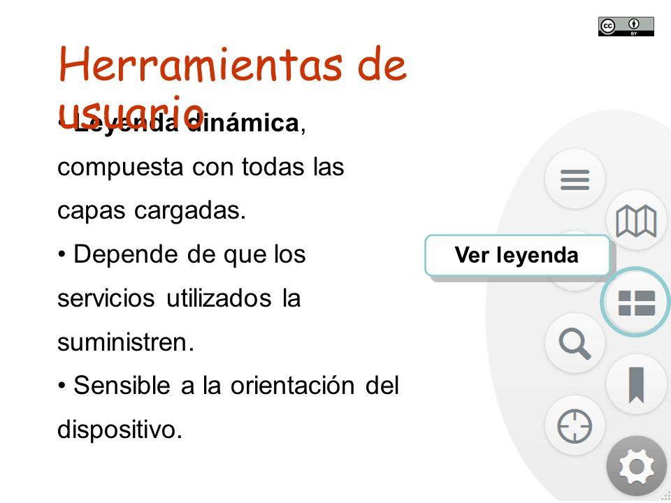 TALLER SITNA PARA MÓVILES SITNA en tu móvil Ver leyenda Leyenda dinámica, compuesta con todas las capas cargadas. Depende de que los servicios utiliza