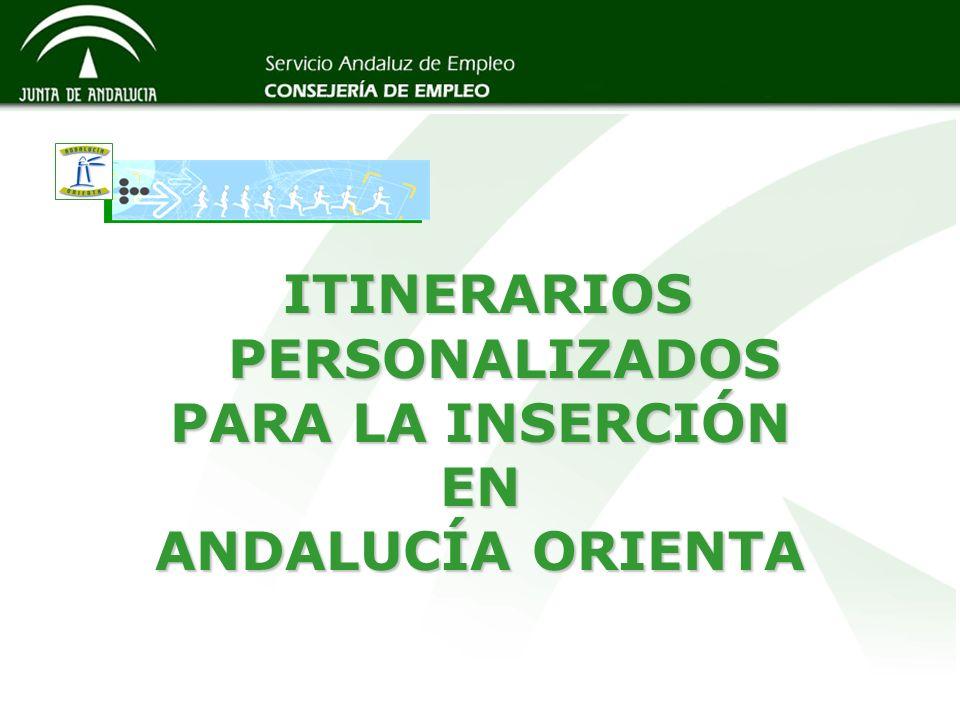ITINERARIOS PERSONALIZADOS PARA LA INSERCIÓN EN ANDALUCÍA ORIENTA