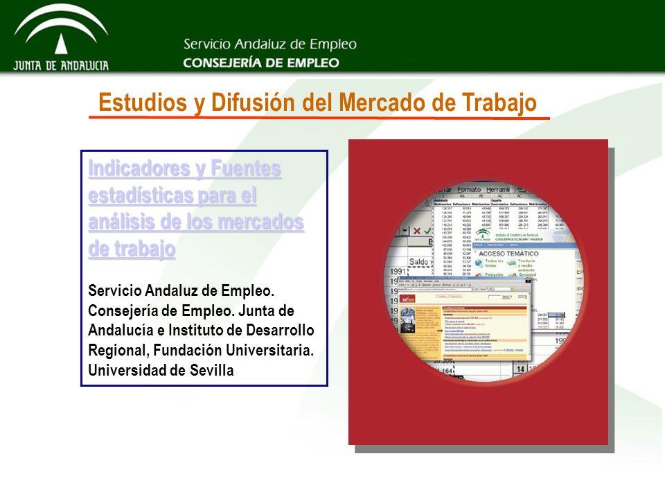 Estudios y Difusión del Mercado de Trabajo Indicadores y Fuentes estadísticas para el análisis de los mercados de trabajo Indicadores y Fuentes estadí