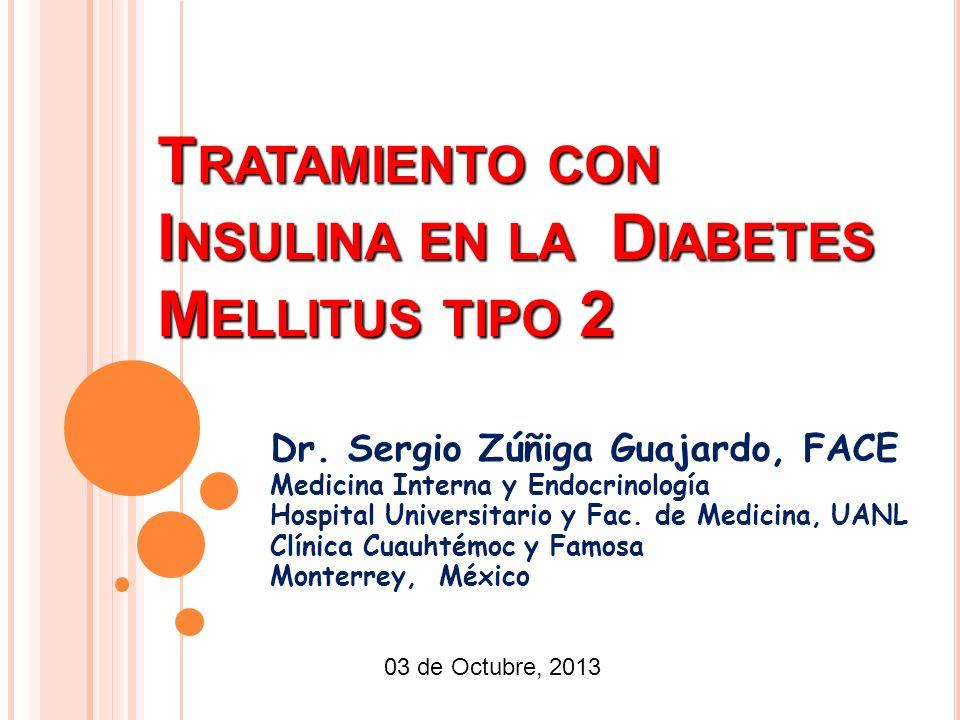 T RATAMIENTO CON I NSULINA EN LA D IABETES M ELLITUS TIPO 2 Dr.