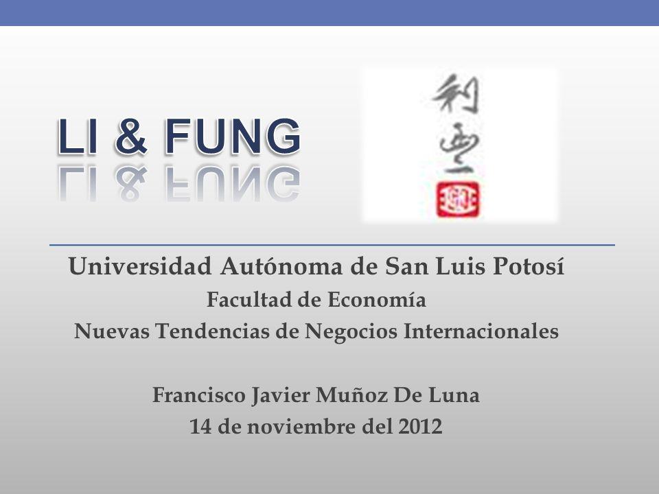 Universidad Autónoma de San Luis Potosí Facultad de Economía Nuevas Tendencias de Negocios Internacionales Francisco Javier Muñoz De Luna 14 de noviem