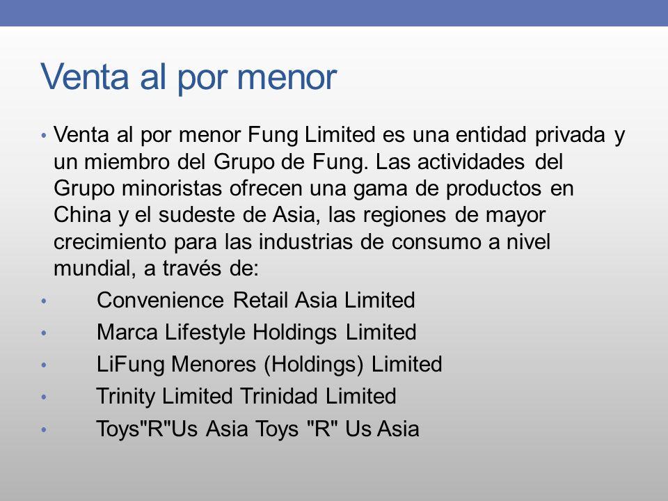 Venta al por menor Venta al por menor Fung Limited es una entidad privada y un miembro del Grupo de Fung. Las actividades del Grupo minoristas ofrecen