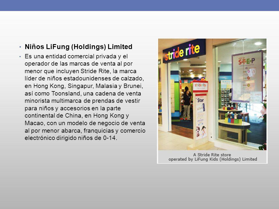 Niños LiFung (Holdings) Limited Es una entidad comercial privada y el operador de las marcas de venta al por menor que incluyen Stride Rite, la marca