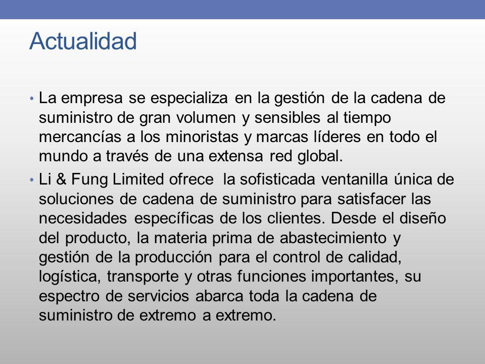 Actualidad La empresa se especializa en la gestión de la cadena de suministro de gran volumen y sensibles al tiempo mercancías a los minoristas y marc
