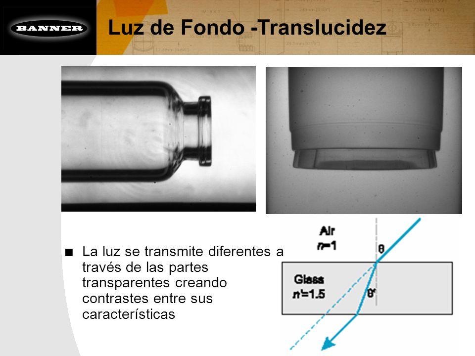 Luz de Fondo -Translucidez La luz se transmite diferentes a través de las partes transparentes creando contrastes entre sus características