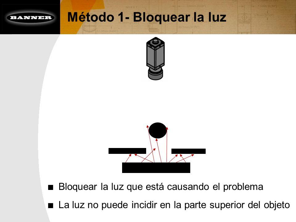 Método 1- Bloquear la luz Bloquear la luz que está causando el problema La luz no puede incidir en la parte superior del objeto