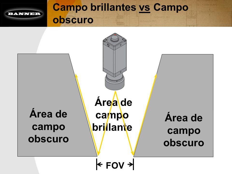 Campo brillantes vs Campo obscuro Área de campo brillante Área de campo obscuro FOV Área de campo obscuro