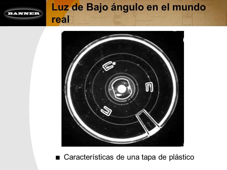 Luz de Bajo ángulo en el mundo real Características de una tapa de plástico