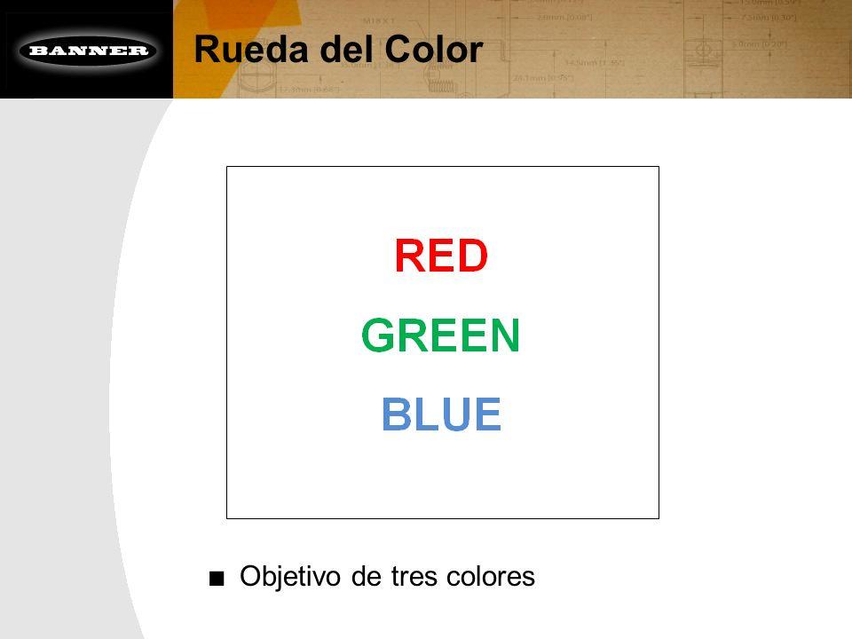 Rueda del Color Objetivo de tres colores
