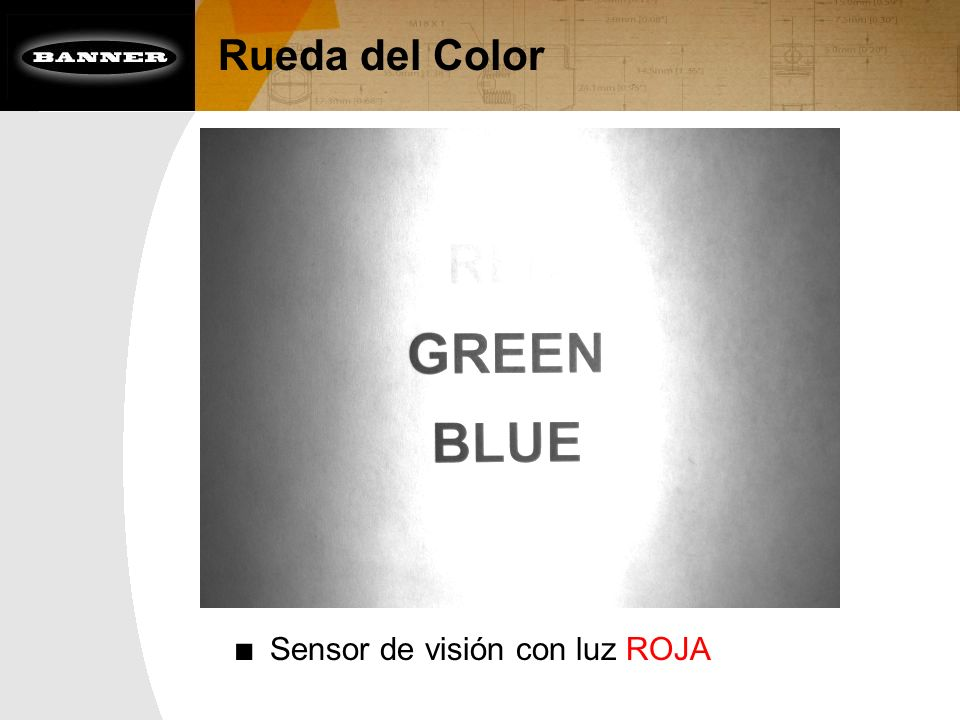 Sensor de visión con luz ROJA