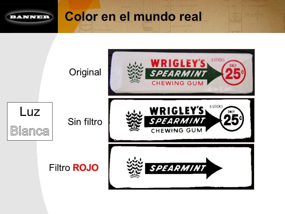 Color en el mundo real Filtro ROJO Sin filtro Original