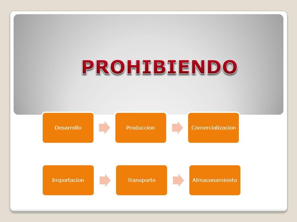 DesarrolloProduccionComercializacion ImportacionTransporteAlmacenamiento