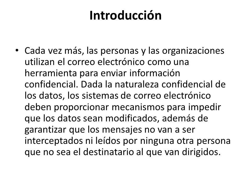 Introducción Cada vez más, las personas y las organizaciones utilizan el correo electrónico como una herramienta para enviar información confidencial.