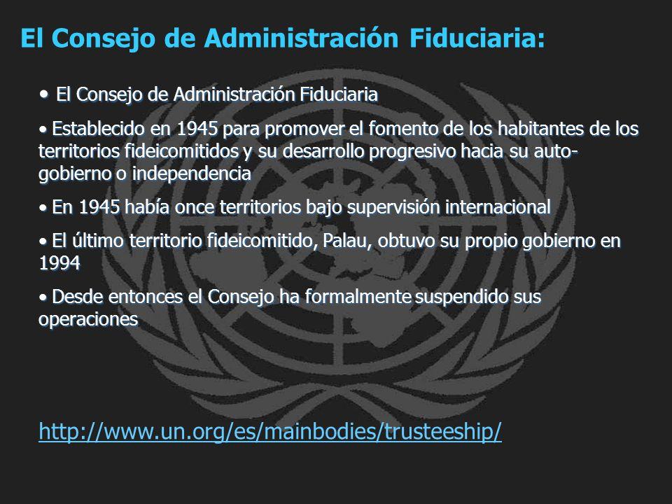 El Consejo de Administración Fiduciaria: El Consejo de Administración Fiduciaria El Consejo de Administración Fiduciaria Establecido en 1945 para prom