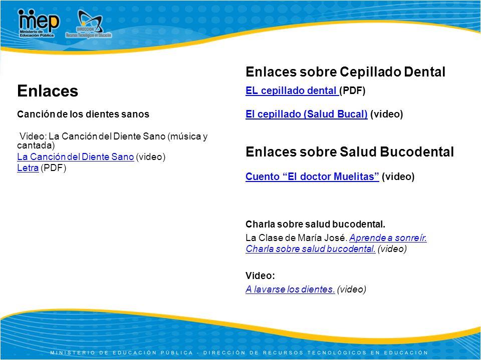 Enlaces sobre Salud Bucodental Cuento El doctor MuelitasCuento El doctor Muelitas (video) Charla sobre salud bucodental.