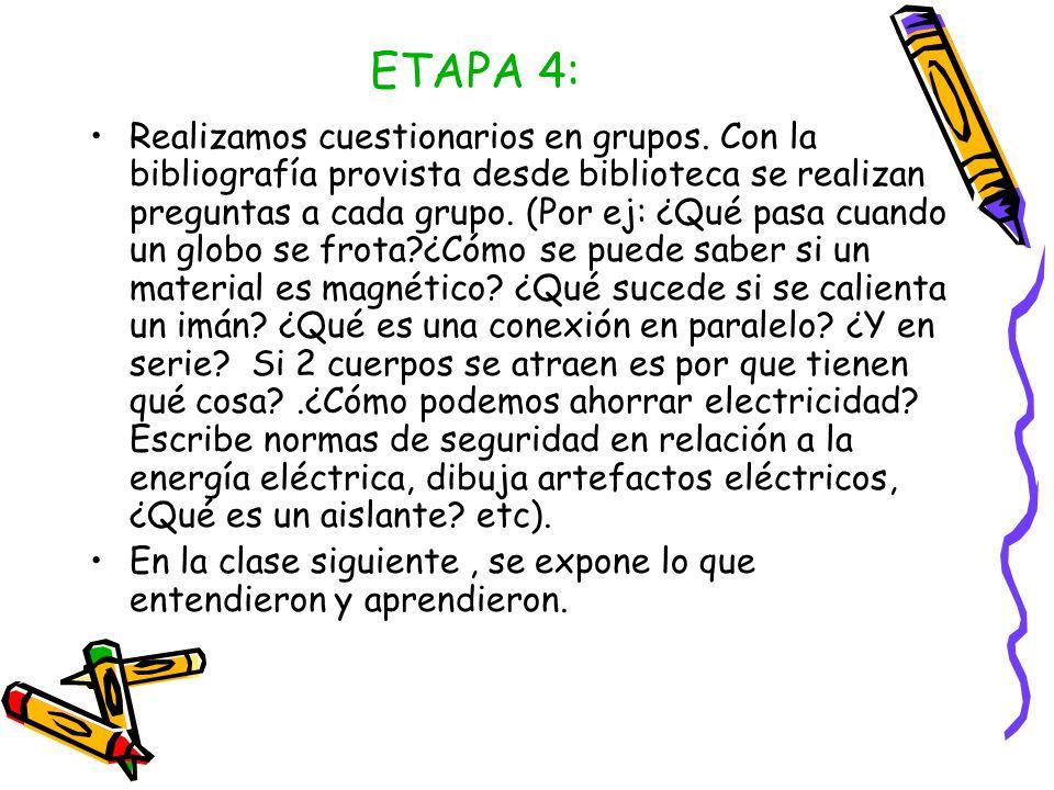 ETAPA 5 Vamos a la sala de computación y buscamos información acerca de la electricidad y el magnetismo.