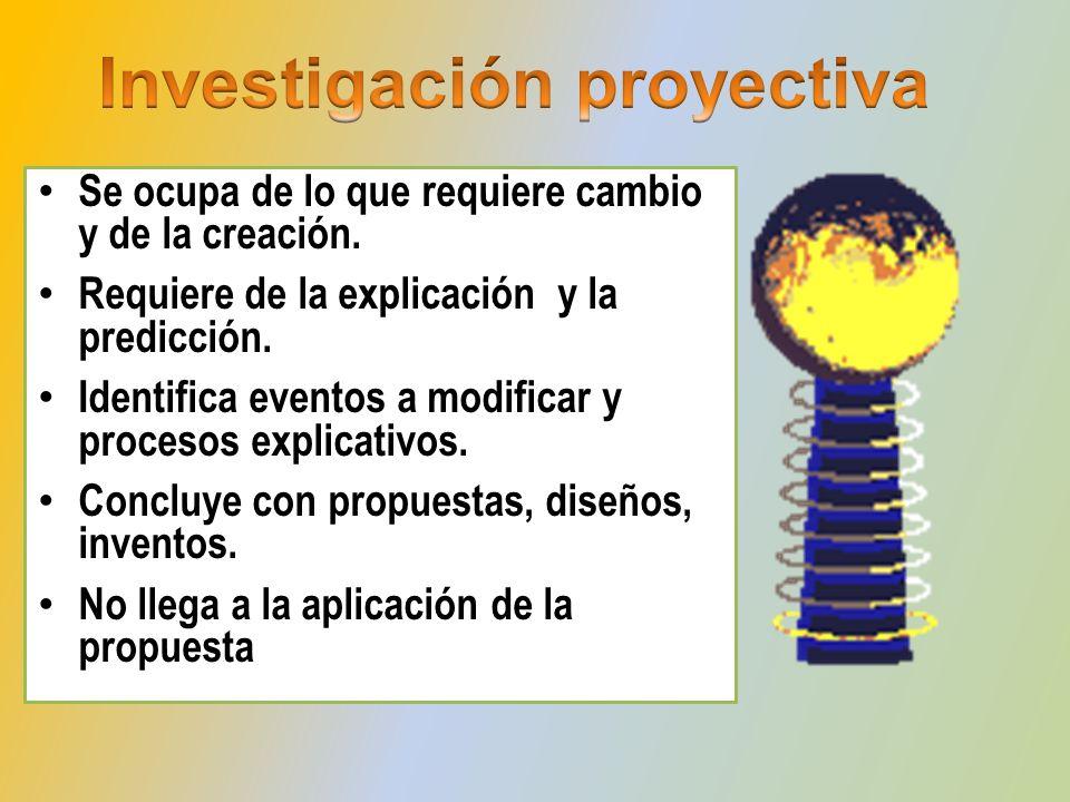 Implica acción: intervención y modificación del evento de estudio.