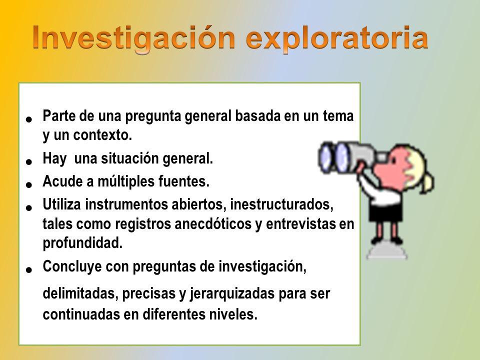 Se interroga acerca de las características de la unidad de estudio.