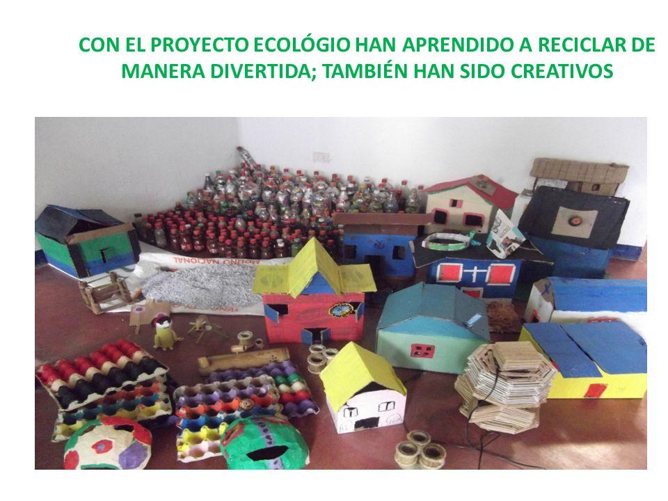 CON EL PROYECTO ECOLÓGIO HAN APRENDIDO A RECICLAR DE MANERA DIVERTIDA; TAMBIÉN HAN SIDO CREATIVOS
