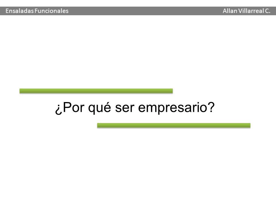 ¿Por qué ser empresario? Ensaladas Funcionales Allan Villarreal C.