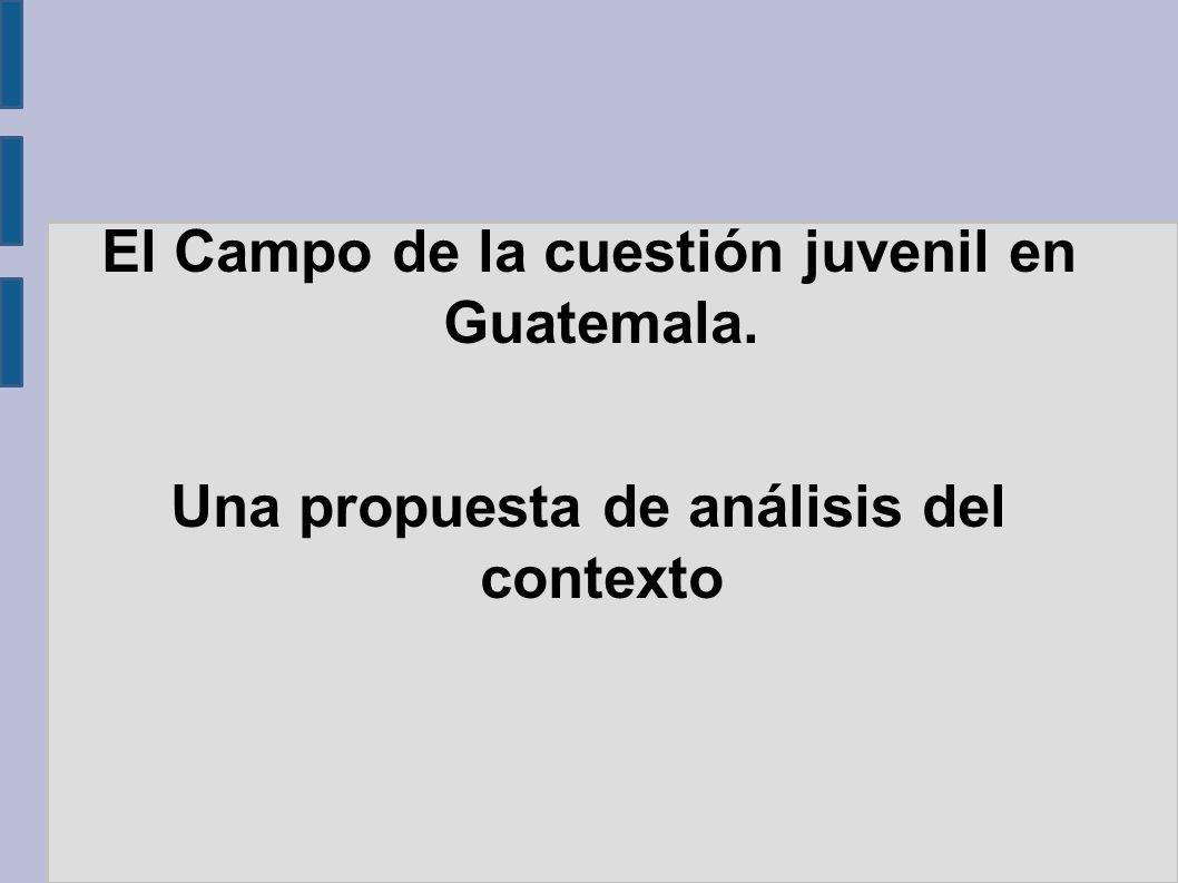 El Campo de la cuestión juvenil en Guatemala. Una propuesta de análisis del contexto