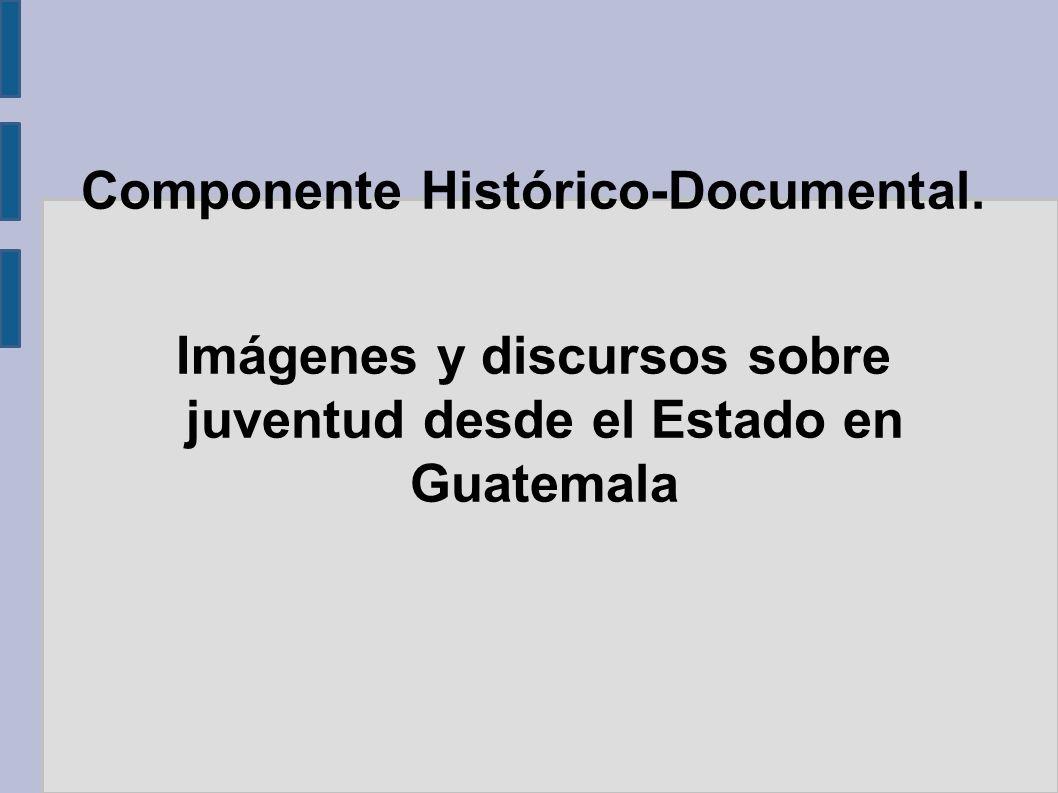 Componente Histórico-Documental. Imágenes y discursos sobre juventud desde el Estado en Guatemala