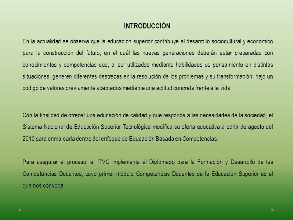 Con la finalidad de ofrecer una educación de calidad y que responda a las necesidades de la sociedad, el Sistema Nacional de Educación Superior Tecnol