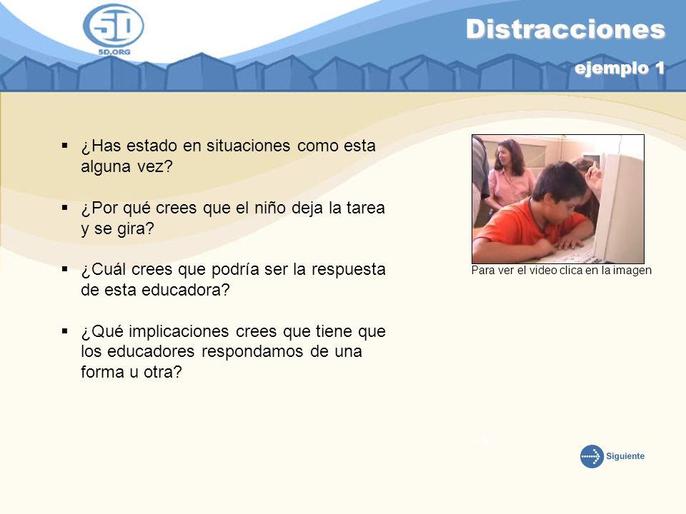 Distintas formas de Ayuda ejemplo 2 ¿Qué ha cambiado en esta situación en relación a la primera.