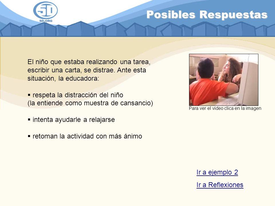 Distracciones ejemplo 2 ¿Qué piensas sobre la actuación de la educadora.
