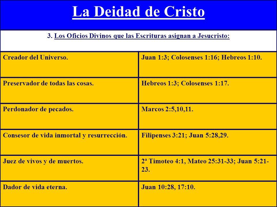 La Deidad de Cristo 4.