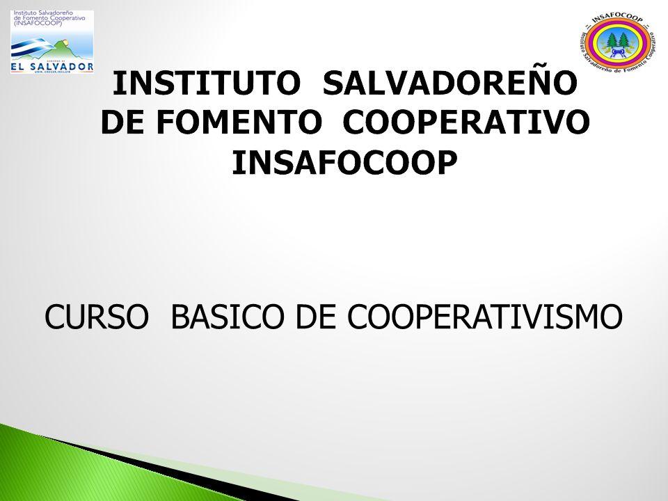 CURSO BASICO DE COOPERATIVISMO