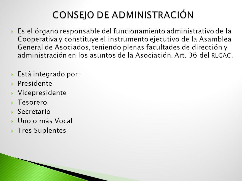 Es el órgano responsable del funcionamiento administrativo de la Cooperativa y constituye el instrumento ejecutivo de la Asamblea General de Asociados