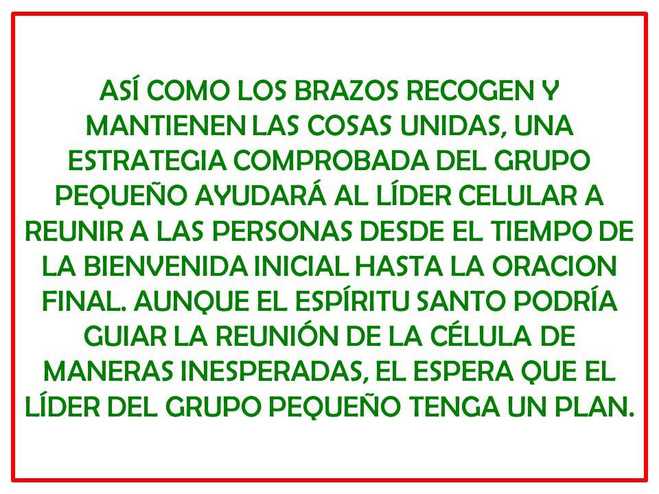 LAS MEJORES REUNIONES DE LOS GRUPOS PEQUEÑOS EMPIEZAN BIEN Y ACABAN BIEN.