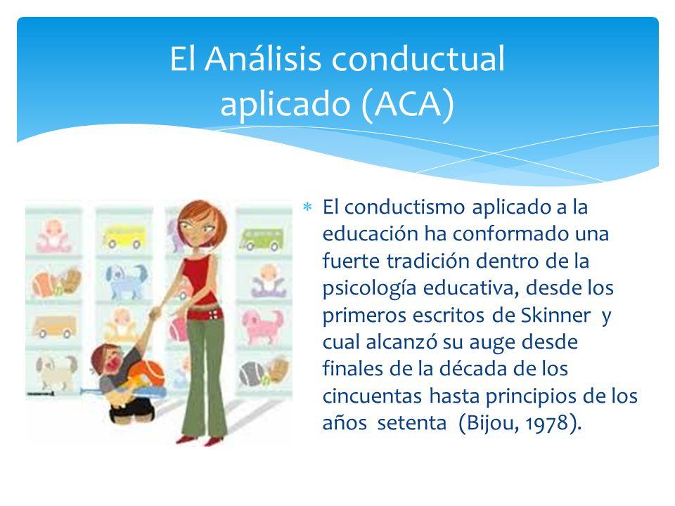 El conductismo aplicado a la educación ha conformado una fuerte tradición dentro de la psicología educativa, desde los primeros escritos de Skinner y