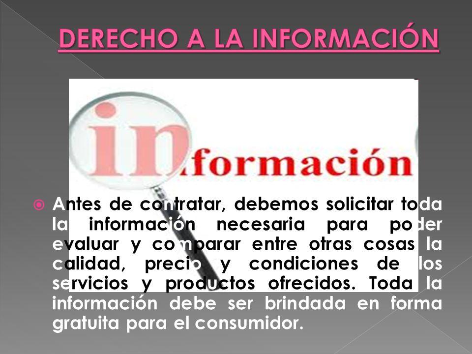 Son Organizaciones Comunes que se ocupan de: Velar por el cumplimiento de los derechos de los consumidores.