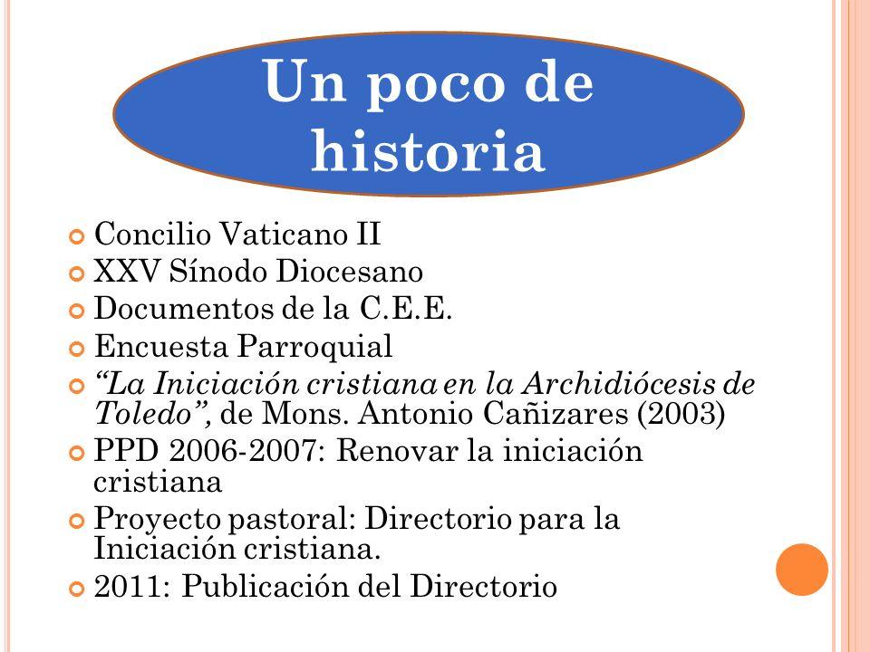 Concilio Vaticano II XXV Sínodo Diocesano Documentos de la C.E.E. Encuesta Parroquial La Iniciación cristiana en la Archidiócesis de Toledo, de Mons.