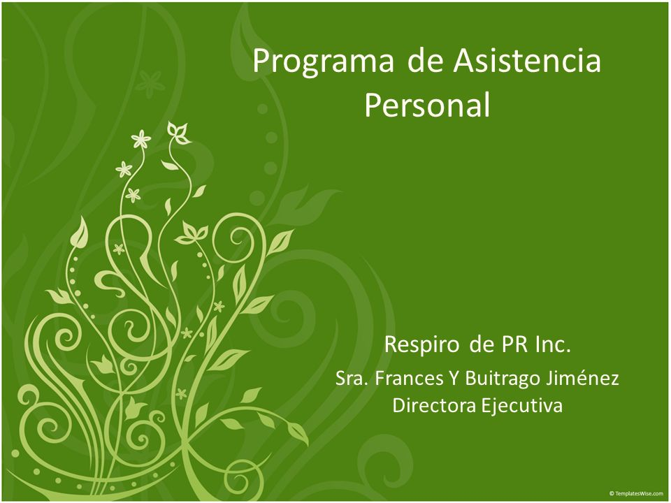 Programa de Asistencia Personal Respiro de PR Inc.