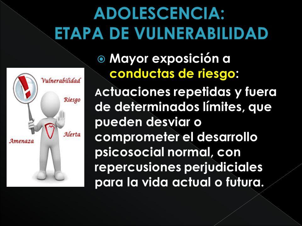 Accidentes automovilísticos.Abuso de sustancias (drogas, alcohol, tabaco, etc.).