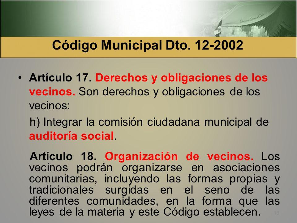 Ley Orgánica Contraloría General de Cuentas (Decreto 31-2002) Artículo 3. Objetivos. b) Apoyar el diseño e implantación de mecanismos de participación