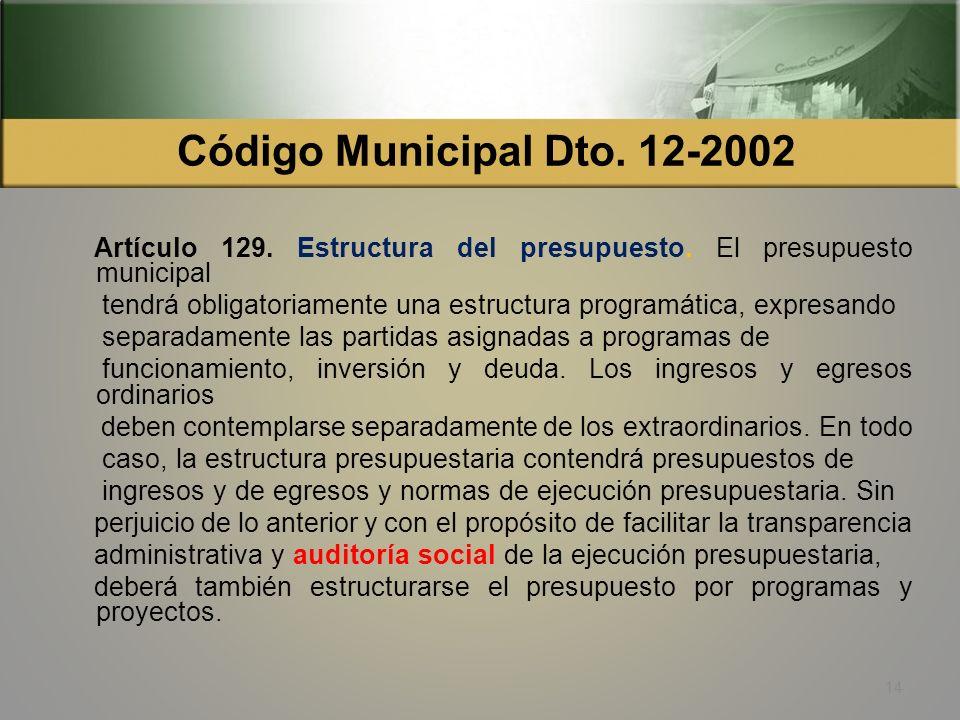 Código Municipal Dto. 12-2002 Artículo 17. Derechos y obligaciones de los vecinos. Son derechos y obligaciones de los vecinos: h) Integrar la comisión