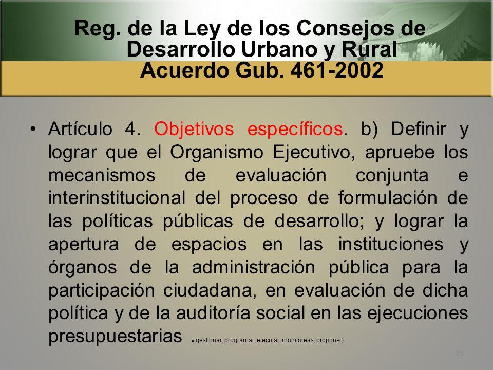 Ley de los Consejos de Desarrollo Urbano y Rural Dto 11-2002 Artículo 16. Integración del Órgano de Coordinación de los Consejos Comunitarios de Desar