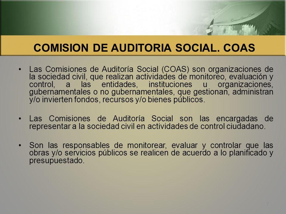 COMISION DE AUDITORIA SOCIAL.