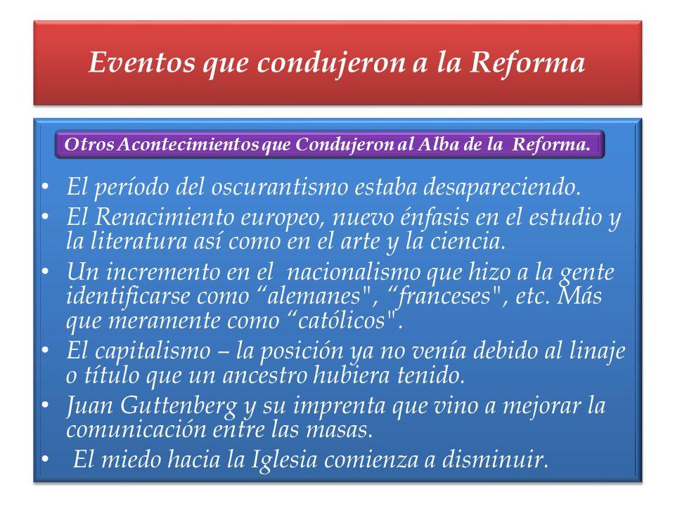 El período del oscurantismo estaba desapareciendo. El Renacimiento europeo, nuevo énfasis en el estudio y la literatura así como en el arte y la cienc