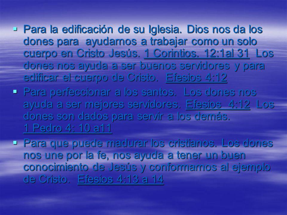 Interpretación de Lenguas La habilidad de poder entender un mensaje de Dios dado en una idioma que nunca has aprendido y compartir el mensaje a los creyentes para que pueden ser edificados por las palabras de Dios.