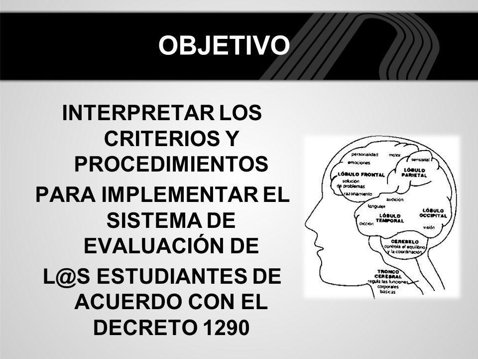 DEFINICIÓN DE EVALUACIÓN EN LA INSTITUCIÓN EDUCATIVA EL Decreto 1290 propone una concepción de evaluación, lo que constituye una aproximación, no obstante lo anterior, una institución educativa, puede redactar su propia definición o concepción sobre evaluación, sin que ello vaya en contravía del Decreto, teniendo en cuenta su propio PEI y su identidad como institución.
