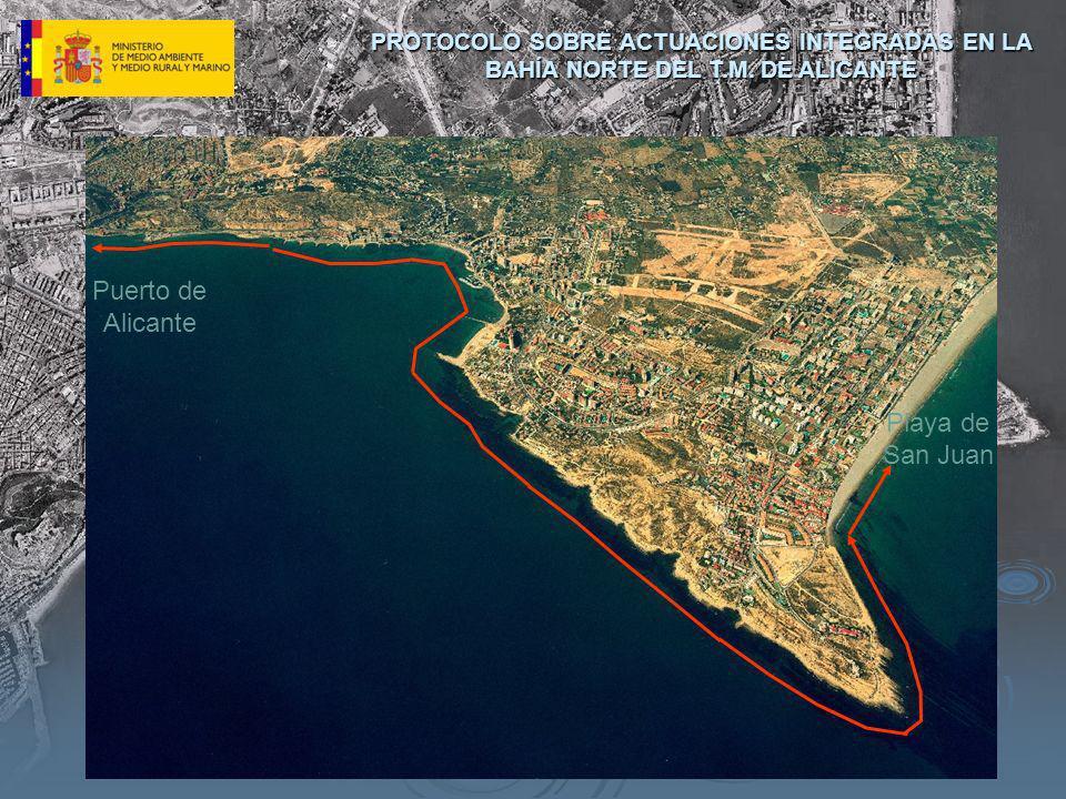 Puerto de Alicante PROTOCOLO SOBRE ACTUACIONES INTEGRADAS EN LA BAHÍA NORTE DEL T.M. DE ALICANTE Playa de San Juan