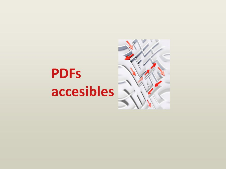 PDFs accesibles