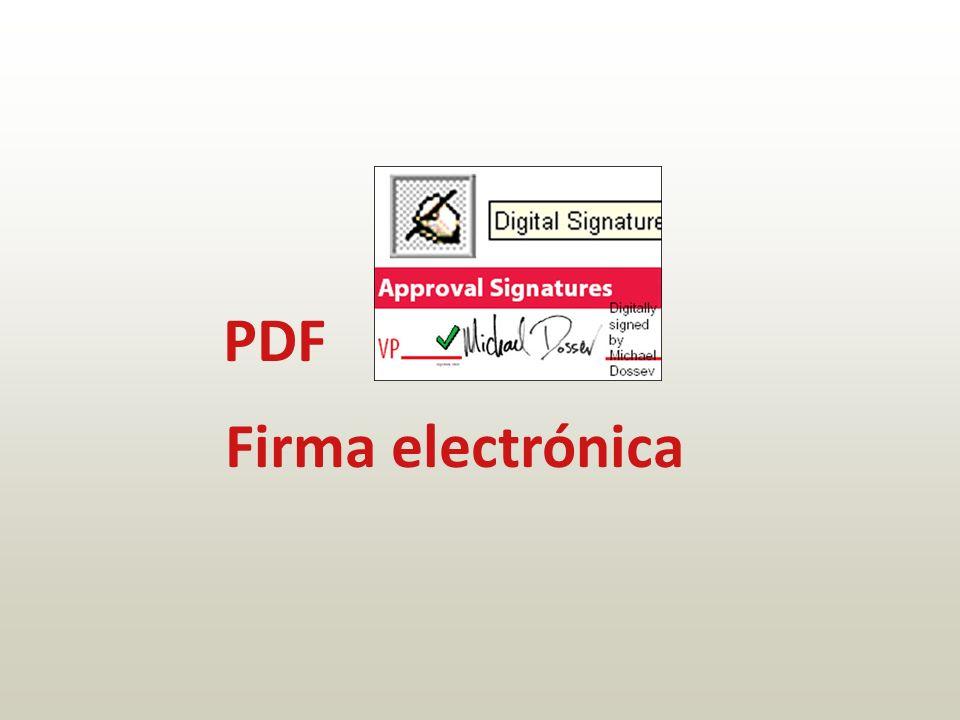 PDF Firma electrónica
