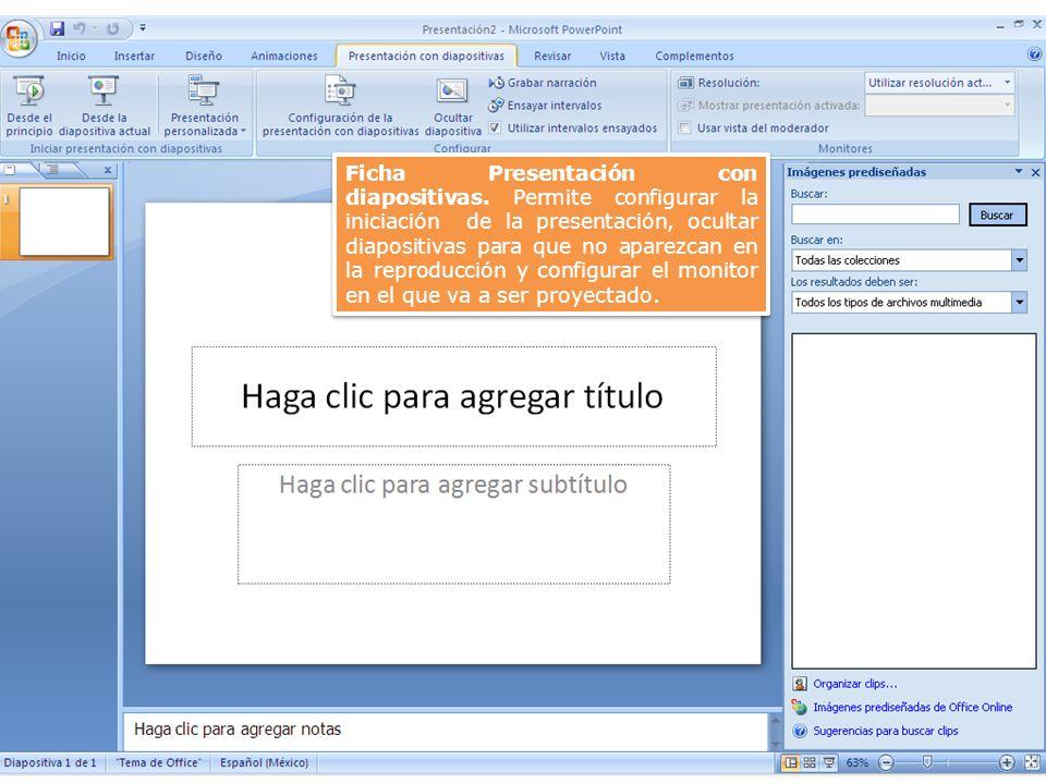 Ficha Presentación con diapositivas.