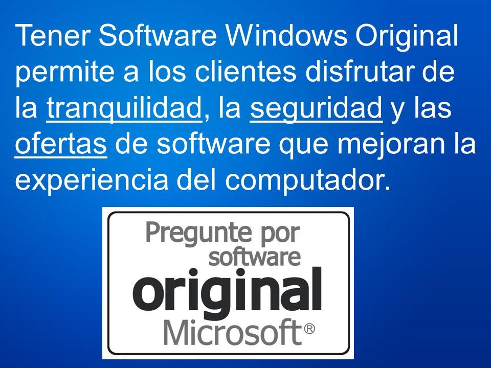 Tener Software Windows Original permite a los clientes disfrutar de la tranquilidad, la seguridad y las ofertas de software que mejoran la experiencia